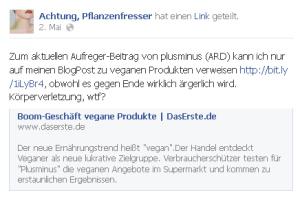 Pflanzenfresser auf Facebook-Diskussion