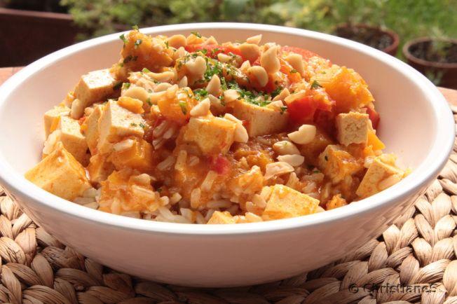Kuerbis Tofu Curry