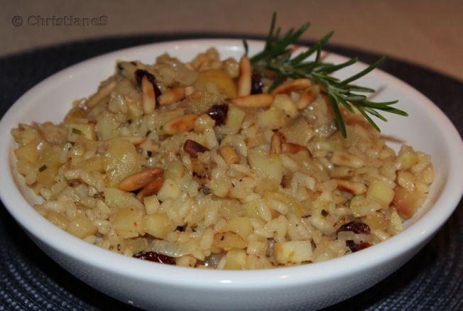Pastinaken Apfel Risotto