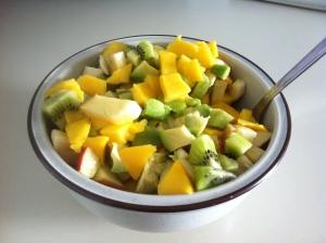 Schüssel mit Obstsalat